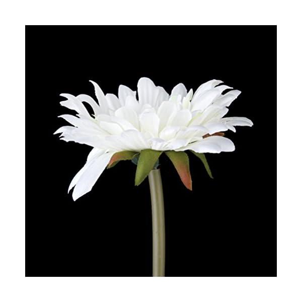 PIXNOR 5 Piezas Flores Artificiales Margarita Gerbera – Blanco