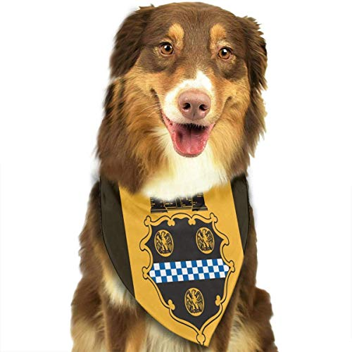 deyhfef City of Pittsburgh Flag Dog Bandana Collars Triangle Neckerchief Bibs Scarfs Accessories Pet Cats and Baby Puppies Saliva ()