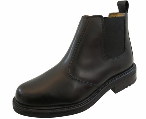 Roamer - scarpe a stivaletto eleganti da uomo, in pelle, (black detail), 44 (10 uk)