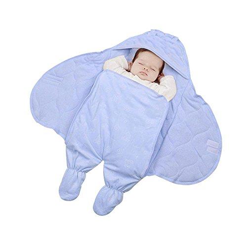 Baumwolle Wrap mit Bein Baby Schlafsack Swaddle Winter Warm anti-falling Off Baby Decke für Neugeborene, Baumwolle für 0–12Monate
