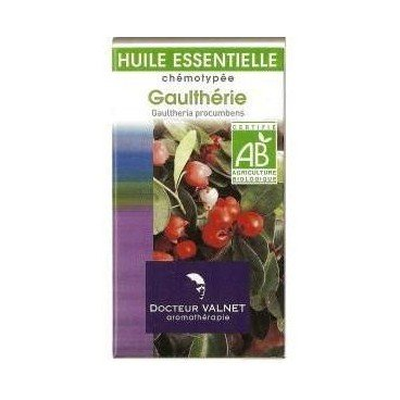 Docteur valnet - Huile essentielle gaultherie bio - 10 ml huile essentielle gaultheria fragrantissima