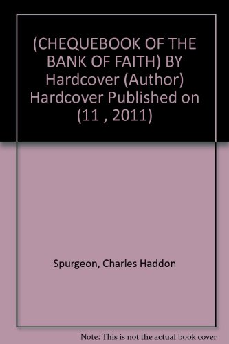 (CHEQUEBOOK OF THE BANK OF FAITH) BY Hardcover (Author) Hardcover Published on (11 , 2011)