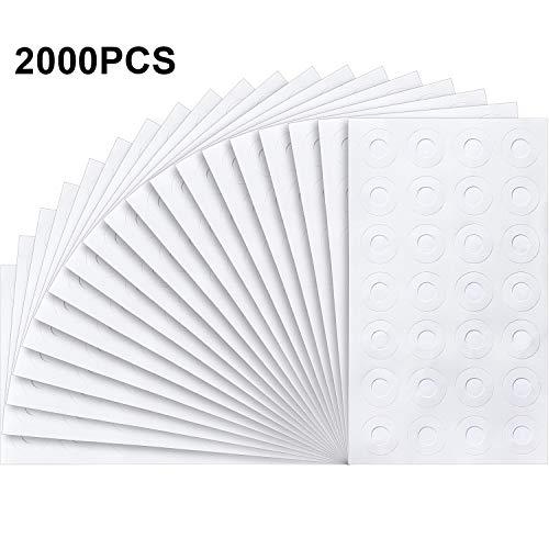 2000 Stücke Selbstklebende Lose-Weiße Verstärkung Etiketten, Runde Binder Loch Verstärkungen zum Reparieren Löchern und Verstärken von Löchern, Verschiedene Donut Designs (Weiß) (Papier Verstärkungen)