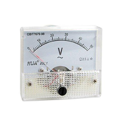 sourcingmap® 85L1 AC 0-50V Rectangle Analog Panel Meter Voltmeter Messgerät de 50v Analog