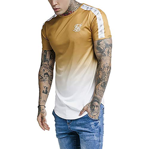Camiseta Siksilk SS Taped Fade Gym tee Gold Mustard SS-14339