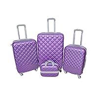نيوترافل حقائب سفر بعجلات 4 قطع ، بنفسجي , RP857-4P