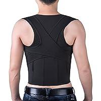 Isermeo Corrector Postura de Espalda, Espalda Recta, Corrector de Postura Hombro para Mujer e Hombres, Soporte Ultrafino Respirable Vendaje de Elástico en Cintura - Alivio Dolor de Espalda