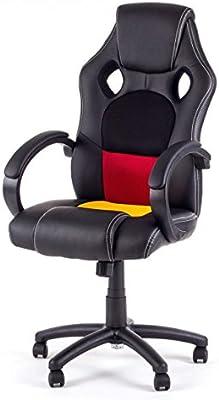 Silla de Oficina Silla de Escritorio Gaming Racing giratorio Recubrimiento de PU Reposabrazos Asiento ajustable diseño Alemania de MY SIT