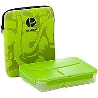 Prêt à Paquet L1004 Lunchbox, 3-fach unterteilt, Hülle grün
