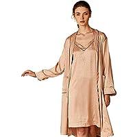 Pijamas de las señoras, femenino honda Salto de Cama, de dos piezas Servicio de satén del estiramiento de cuello en V camisón de la ropa interior pijamas vestido de la noche gama alta de pijamas traje