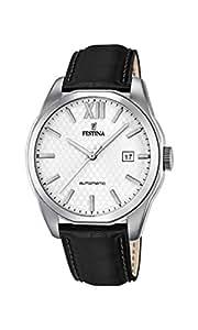 Festina - F16885-2 - Montre Homme - Automatique Analogique - Cadran Blanc - Bracelet Cuir Noir