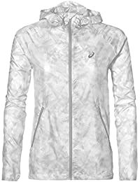 Asics Fuzex Packable Chaqueta, Mujer, Blanco (Whisk Real White), M