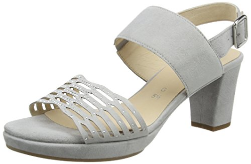Gabor Shoes Damen Comfort Offene Sandalen , Grau (Light Grey (A.Obl) 30), 42.5 EU