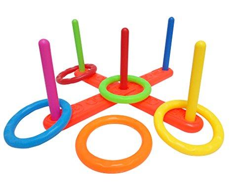 Funmate Colorful Deluxe anillos Ring Toss clavijas lanzando juego día deportivo jardín juguetes Aro la juego