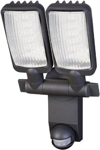 Brennenstuhl LED-Strahler Duo Premium City / LED-Leuchte für außen und innen mit Bewegungsmelder (IP44, drehbar, 31 Watt, 6400 K) Farbe: anthrazit - Schwenk-montage
