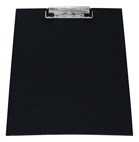 Klemmbrett Schreibplatte A4 economy PVC-Folie leinengeprägt farbig Sparpack - 10 Stück (Schwarz)