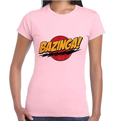 T-SHIRT BAZINGA - ROSA - DONNA