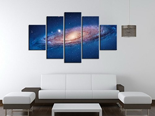 5-panel-modern-abstract-wall-art-dark-universe-photo-canvas-prints-galaxy-colorful-space-star-canvas