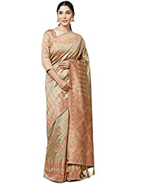 SareeShop Women's Kanjivaram Cotton Silk Saree For Women Latest Design 2018 With Blouse Piece (Apple-3106-SAREESHOP15...