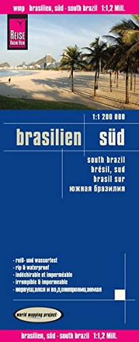 Reise Know-How Landkarte Brasilien, Süd (1:1.200.000): world mapping project