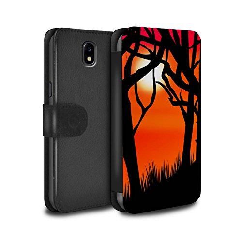 �lle/Case/Tasche/Cover für Samsung Galaxy J5 2017/J530 / Gruseligen Wald Muster/Halloween Szene Kollektion ()