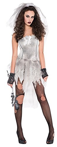 "Zombie Braut ""Drop Dead Gorgeous"" Kostüm Damen (Zerfetzte Kleid Kostüm)"