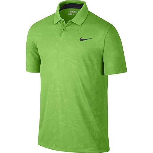 Schwarz Jacquard Polo (Nike Männer der Mobilität Camouflage Jacquard Golf Polo 2015schwarz/pink POW Medium, Herren, grün (Green Pulse))
