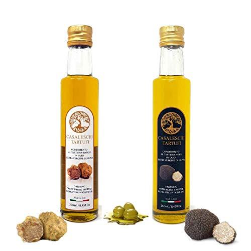 Condimento al tartufo bianco e nero in olio extra vergine 250+250 ml.