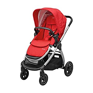 Maxi-Cosi Adorra Baby Pushchair, Comfortable and Lightweight Stroller with Huge Shopping Basket, Suitable from Birth, 0 Months - 3.5 Years, 0-15 kg, Nomad Red   3