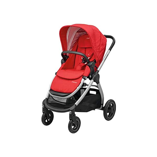 Maxi-Cosi Adorra Baby Pushchair, Comfortable and Lightweight Stroller with Huge Shopping Basket, Suitable from Birth, 0 Months - 3.5 Years, 0-15 kg, Nomad Red Maxi-Cosi Urban stroller, suitable from birth to 15 kg (birth to 3.5 years) Cocooning Seat: The luxury of a large padded seat for the extra comfort of your little one A lightweight stroller less than 12 kg that makes walking effortless 1