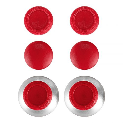 extremerate 4in 1Metall magnetische Thumbsticks Analog Joysticks T8H Kreuz Schraubenzieher mit Speicher Fall für Xbox One X One S Elite PS4Slim Pro Nintendo Switch Pro Controller Rot Rot -