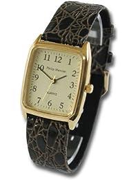Philip Mercier SML08/C - Reloj de caballero de cuarzo color marrón