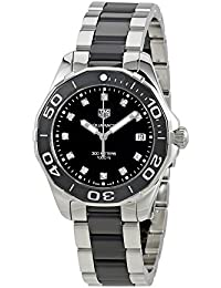 TAG Heuer Women's Aquaracer Diamond 35mm Two Tone Steel Bracelet & Case Quartz Analog Watch WAY131C.BA0913