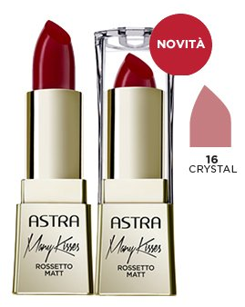 ASTRA MANY KISSES 16 Crystal Rossetto* Cosmetici