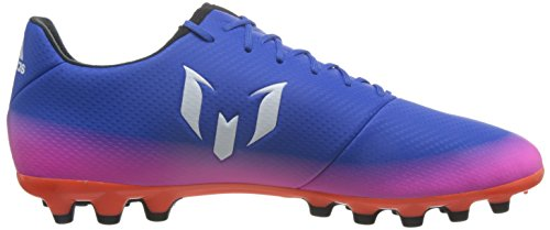 adidas Messi 16.3 Ag, Scarpe da Calcio Uomo Blu (Blue/footwear White/solar Orange)
