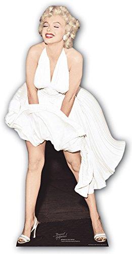 Monroe - weißes Kleid - Star VIP - Pappaufsteller Standy - 157 cm ()