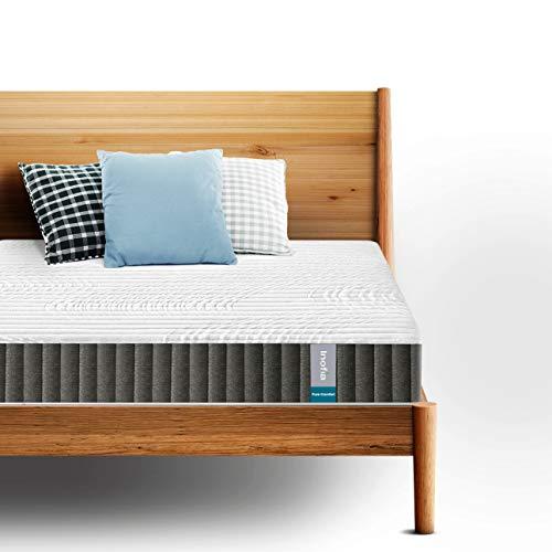 Inofia Matratze 140x200 Federkernmatratze 7-Zonen H3,Taschenfederkern Matratze,Höhe 17 cm, weiß, 100 Nächte Probeschlafen,10 Jahre Garantie(waschbar Bezug, 140 x 200 cm)