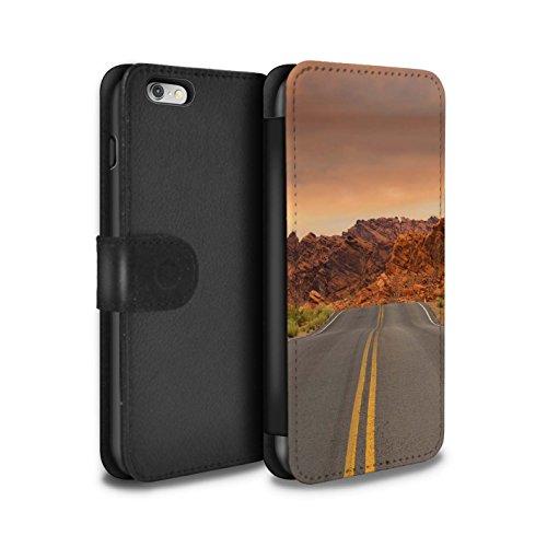 Stuff4 Coque/Etui/Housse Cuir PU Case/Cover pour Apple iPhone 6S+/Plus / Vallée Design / État du Nevada Collection Route/Autoroute