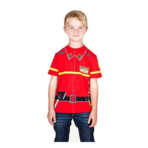 Feuerwehr-erwachsenen T-shirt (Kid's Shirt Feuerwehr T-Shirt rot, Größe:164)