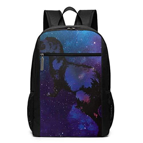 Homebe Rucksäcke,Daypack,Schulrucksack Animal Galaxy Ferret Laptop Backpack for Women Men Stylish Backpack College School Backpack Business Travel Durable Backpack Fit Laptop