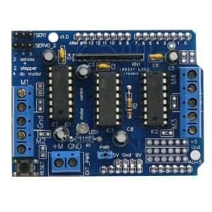 L293D Motor Driver carte d'extension commande moteur Shield (Bleu)