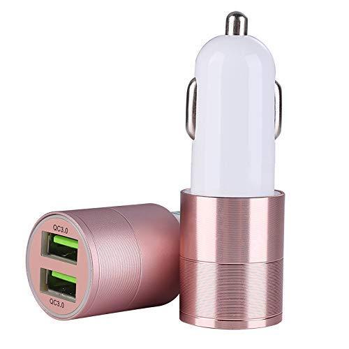 Mcottage Rapid USB Caricabatterie Auto Alimentazione Consegna con Veloce Carica Accendisigari - Luminoso Ros