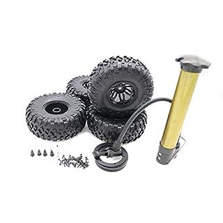 RCAWD Air-Filled aufgeblasen 2.2 Bead Lock Rad Reifen S Lauffläche für Rc 1:10 Rock Crawler Monster Truck 4 Stück(schwarz)