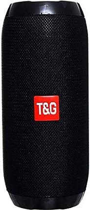 مكبرات صوت تعمل بتقنية بلوتوث من بي تي محمولة للاماكن الداخلية والخارجية بلون اسود TG117