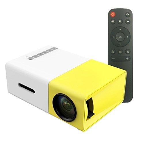 ZUMURCH® Tragbarer LED-Projektor Multimedia 1080p Outdoor Kino-Theater-Projektor USB / SD / AV / HDMI-Eingang Mini Pocket Projektor mit Fernbedienung
