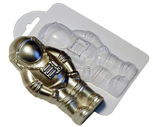 1pc-Astronaut Raumfahrer Weltall Raumschiff Geschenk Kunststoff-Soap-Herstellung von Schimmel-Geschenk für Sie Für Ihn Form 110x58x21mm (Soap-kunststoff-formen)