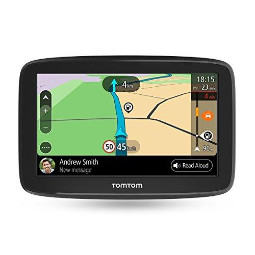 TomTom GO Basic Pkw-Navi (6 Zoll, mit Updates über Wi-Fi, Lebenslang Traffic via Smartphone und EU-Karten, Smartphone-Benachrichtigungen, resistivem Display)