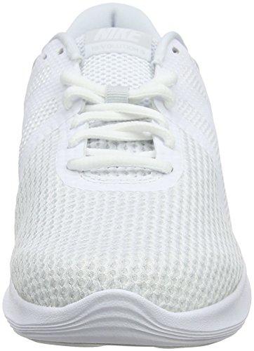 Nike Revolution 4 Eu, Chaussures De Course Pour Homme Blanc (blanc-pur Platinum 100)