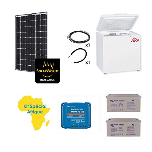 Kit solar Spécial Afrika 250W Kühlschrank Gefrierschrank Sol-166L