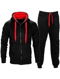 NOROZE Homme Contraste Corde Sweat à Capuche Pantalon Gym Survêtement  Taille S M L XL 9b0ffd8247f